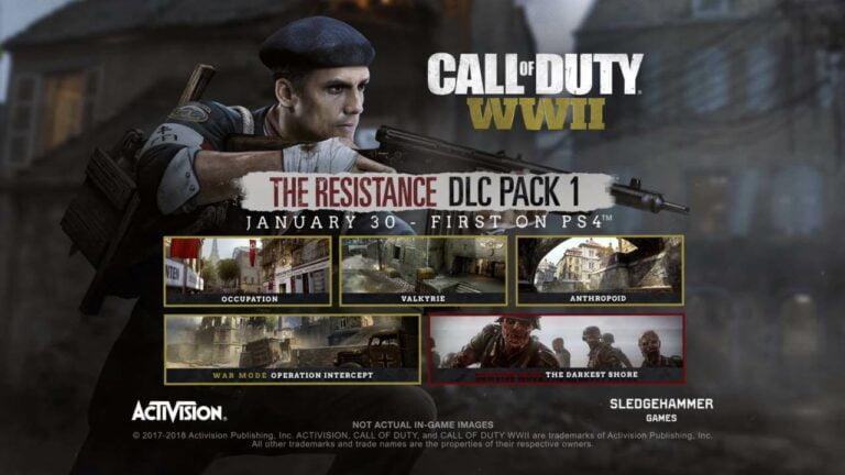 DLC Baru Call of Duty: WW2 The Resistance Tiga Peta Baru dan Nazi Zombie Baru