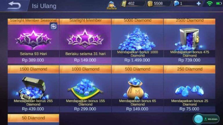 Cara Mendapatkan Diamond Gratis Mobile Legends Dengan Hack Diamond