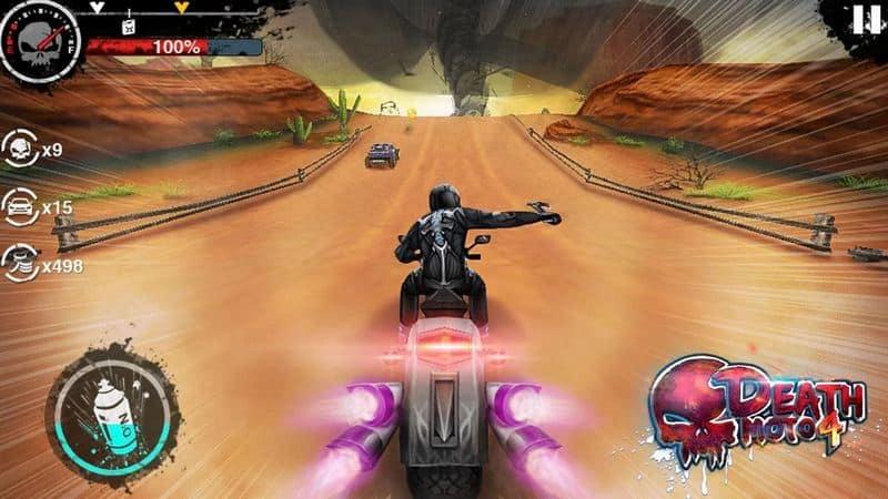 Death Moto 4 game balap motor android terbaik