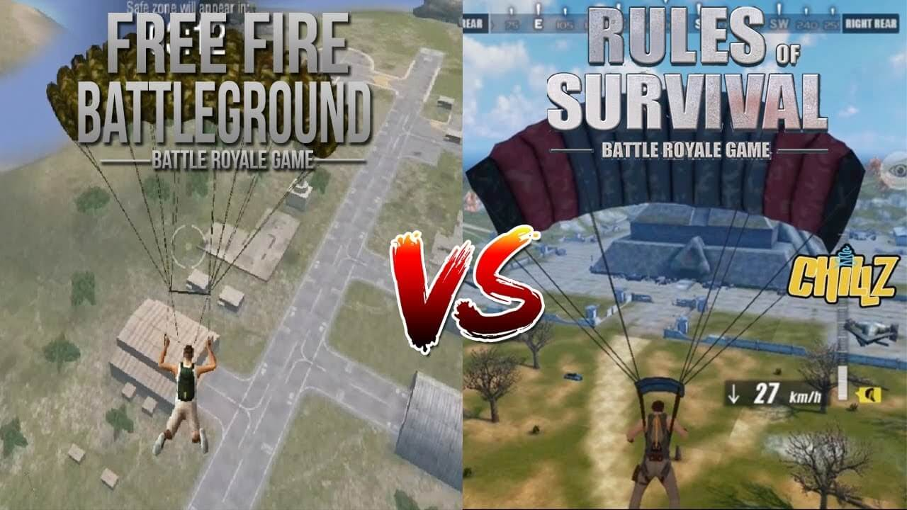 Free Fire dan Rules of Survival