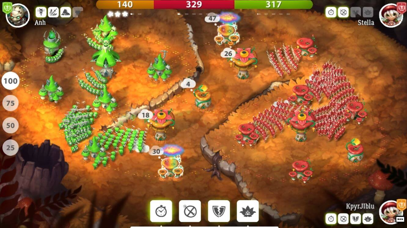 Mushroom Wars 2 game android strategi