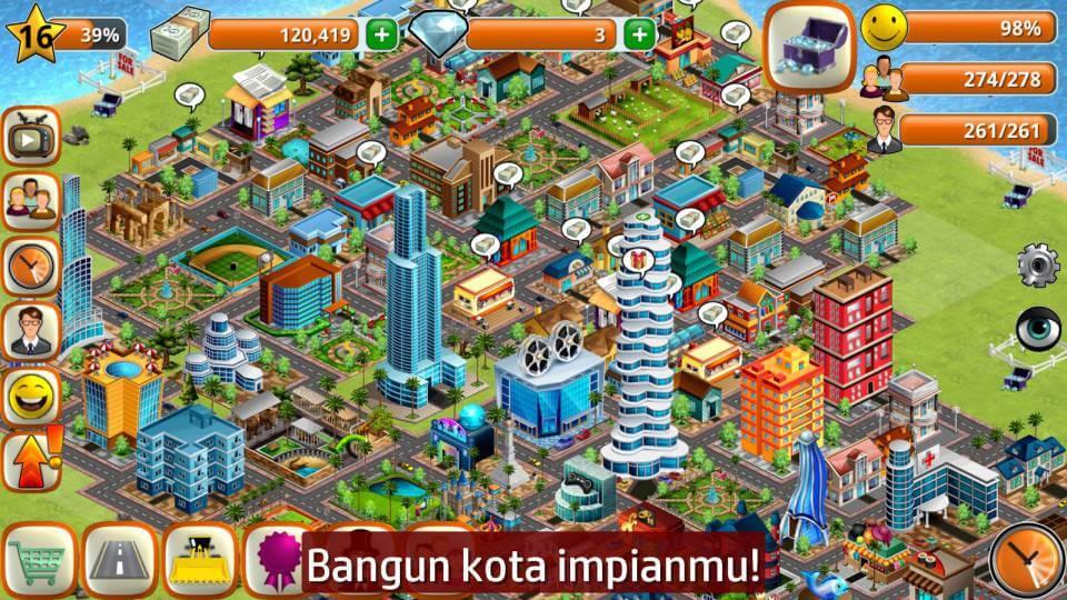 Pedesaan - Simulasi Pulau City Village Sim Town