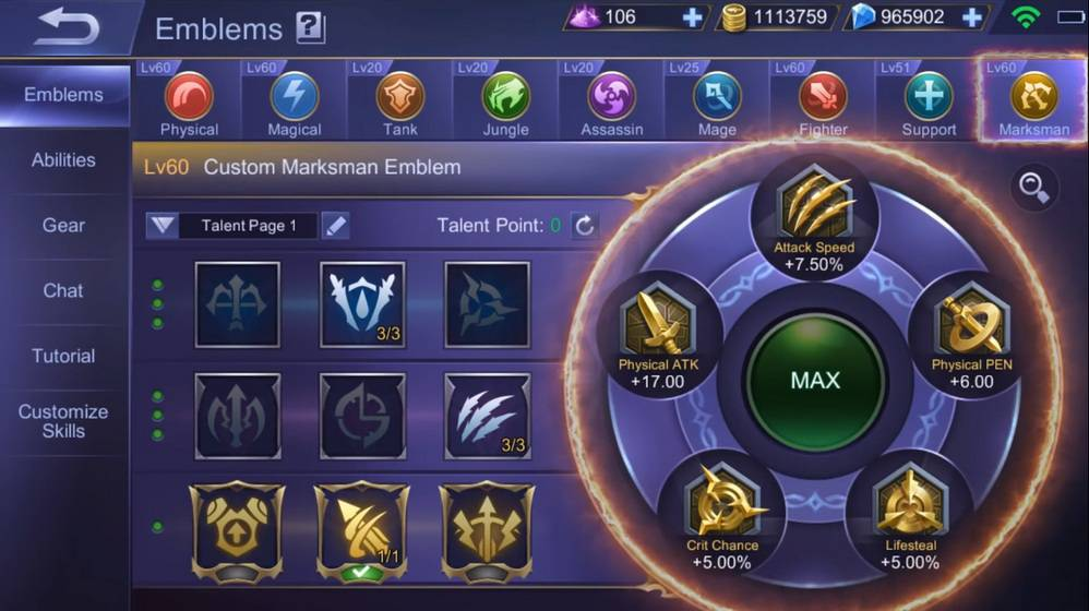 Memperkuat Emblem Hero Mobile Legends