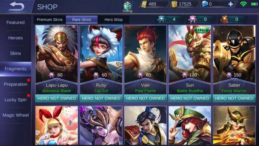 Fragments Mobile Legends Terbaru