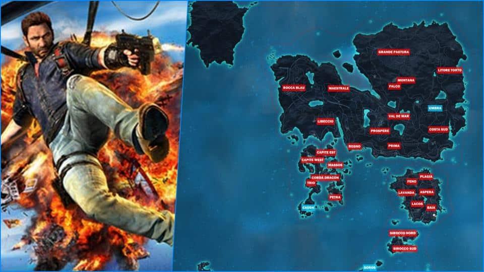 Just Cause 3 Game Map Terbesar