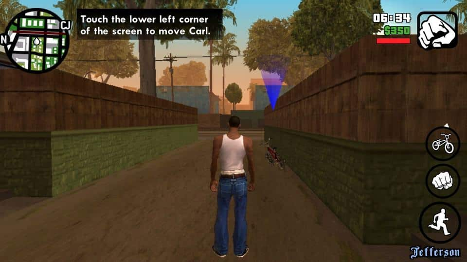 Grand Theft Auto San Andreas Android Misi Pertama