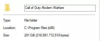 Ukuran COD Modern Warfare Capai 200GB