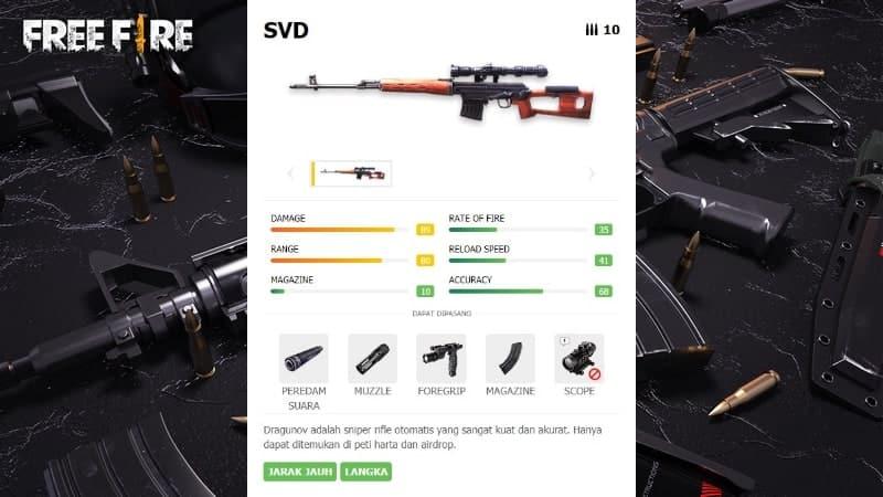 Senjata SVD Garena Free Fire