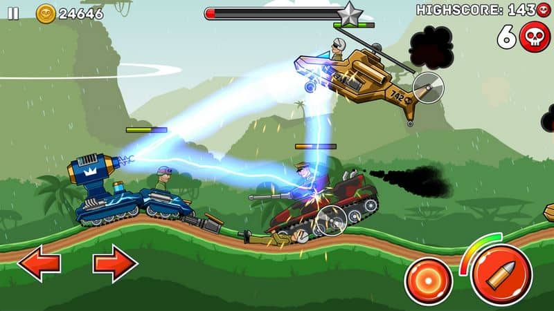Hills of Steel game tank android