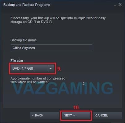 Cara Backup Game Steam