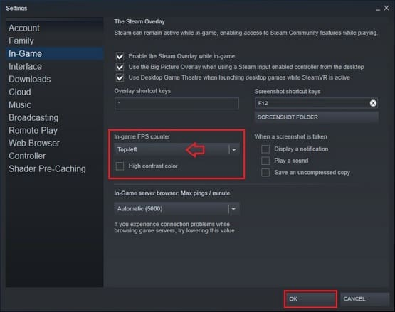 Cara Menampilkan FPS Game Steam