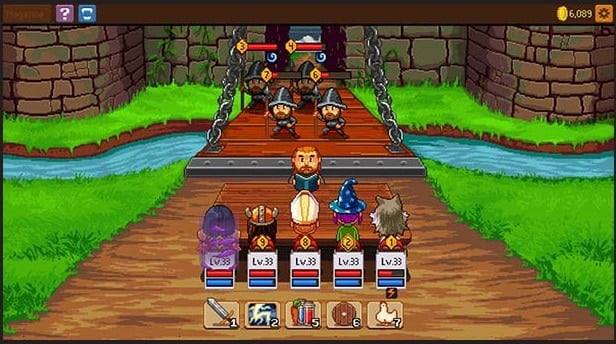 Knights of Pen Paper game android terbaik