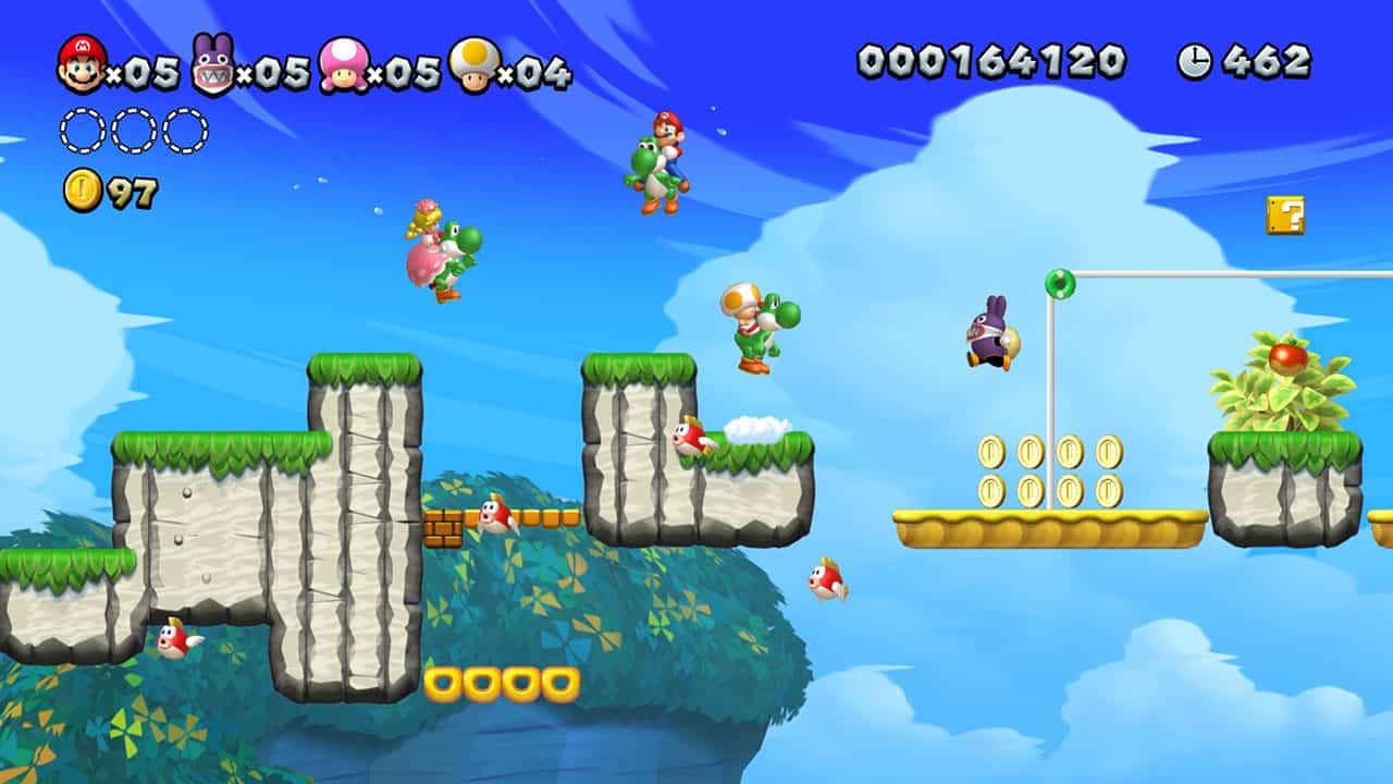 New Super Mario Bros. U Deluxe Game Nintendo Switch Terlaris