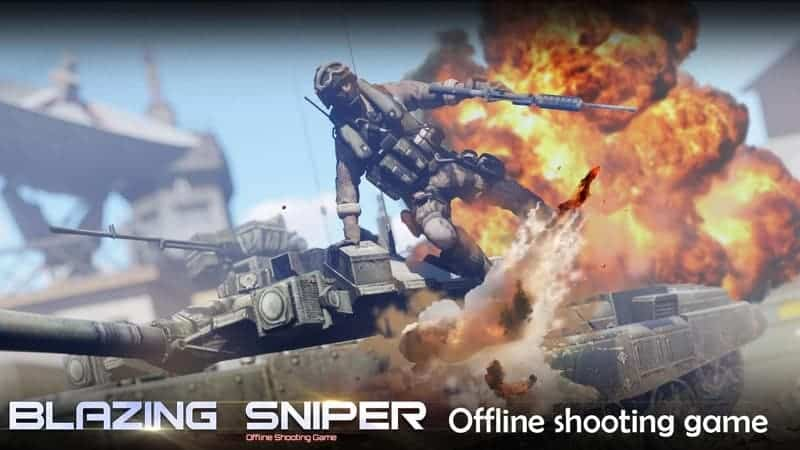 Blazing Sniper - offline shooting game android