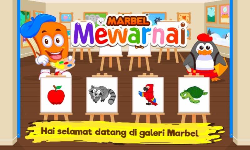 Marbel Buku Mewarnai Anak Anak