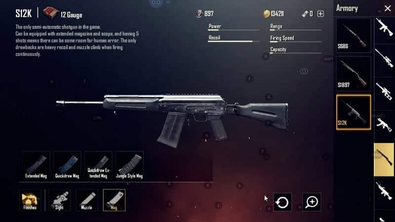 S12K Senjata PUBG Terbaik dan Tersakit