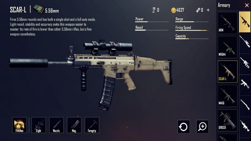 SCAR-L Senjata PUBG Terbaik dan Tersakit
