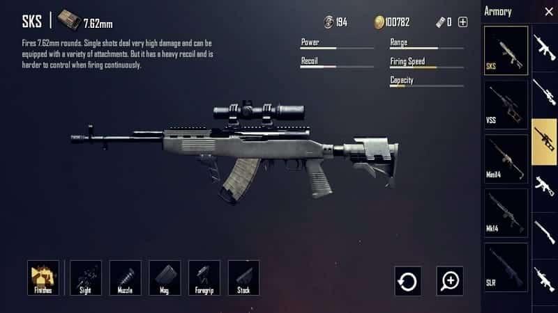 SKS Senjata PUBG Terbaik dan Tersakit