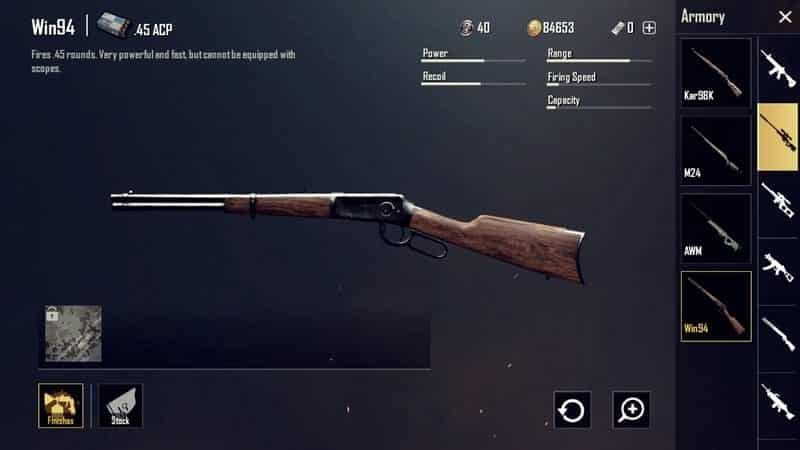 Win94 Senjata PUBG Terbaik dan Tersakit