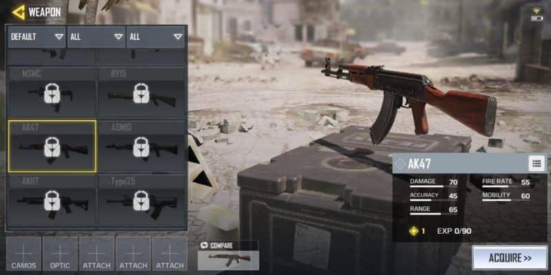 COD Mobile Senjata AK47