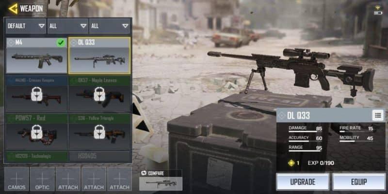 COD Mobile Senjata DL-Q33