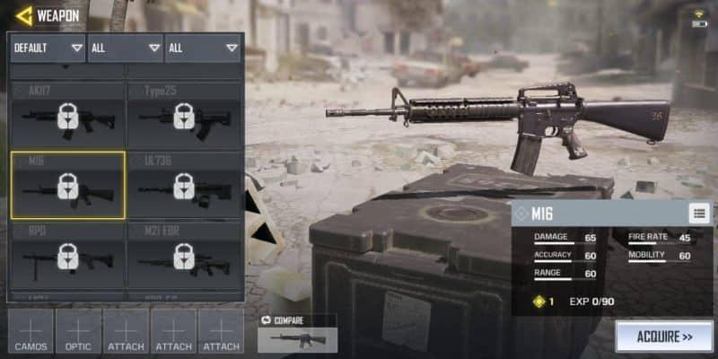 COD Mobile Senjata M16