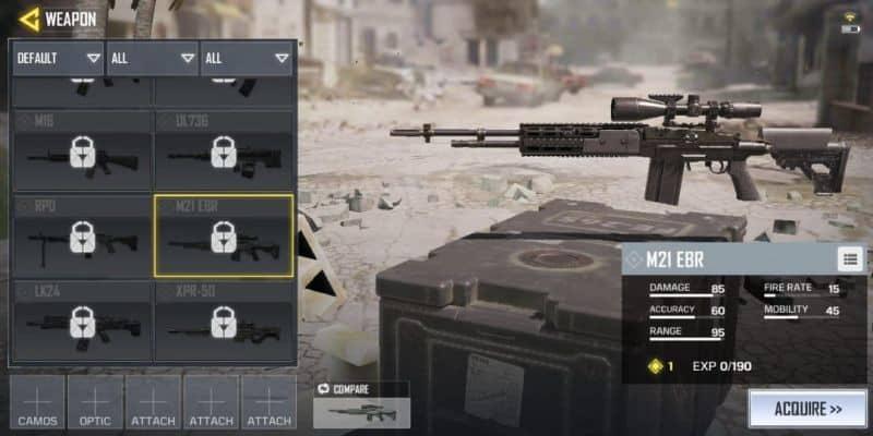 COD Mobile Senjata M21-EBR