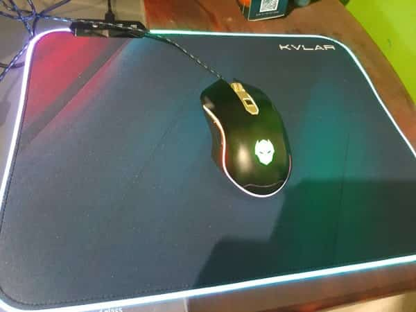 Rexus Mousepad Gaming RGB Kvlar TR1 Speed Edition M
