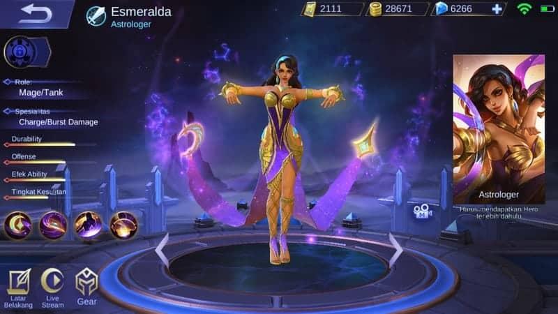 Mobile Legends Hero Esmeralda