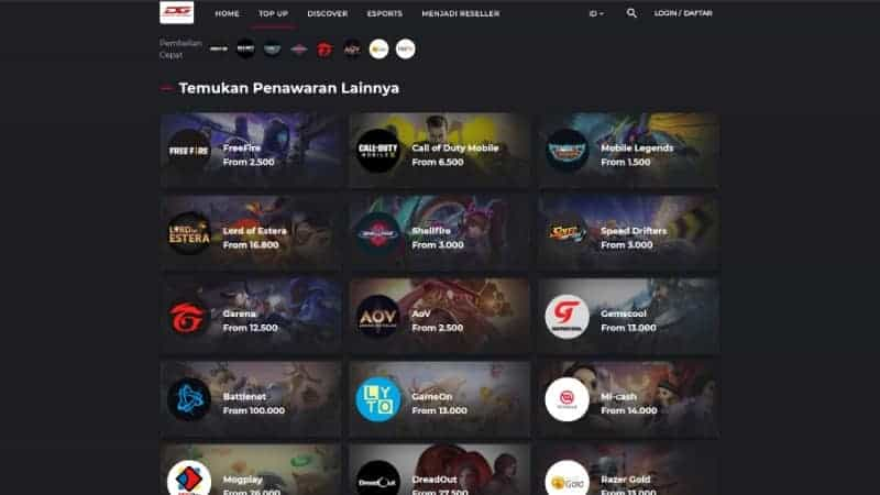 Duniagames coid situs top up game online