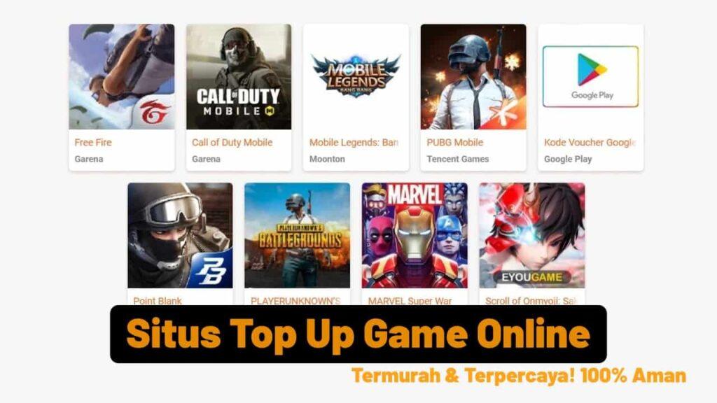 Situs Top Up Game Online Termurah Terpercaya Aman