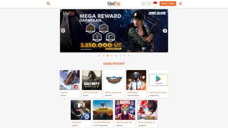 Unipin Situs Top Up Game Online Terpercaya