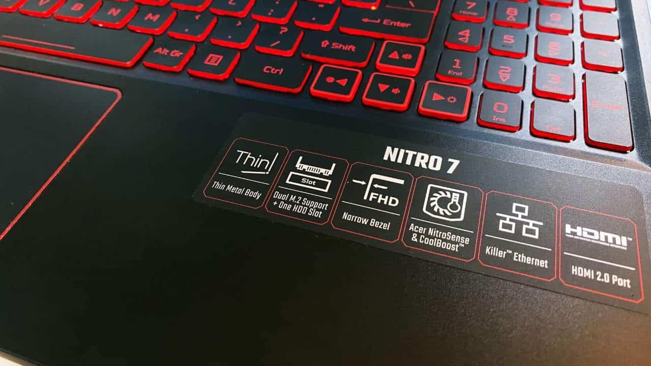 Acer NITRO 7 Fitur Unggulan