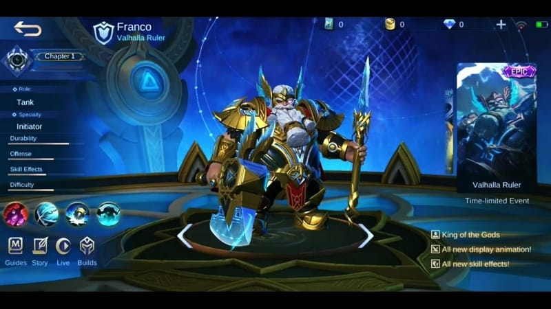 Valhalla Ruler Franco Mobile Legends