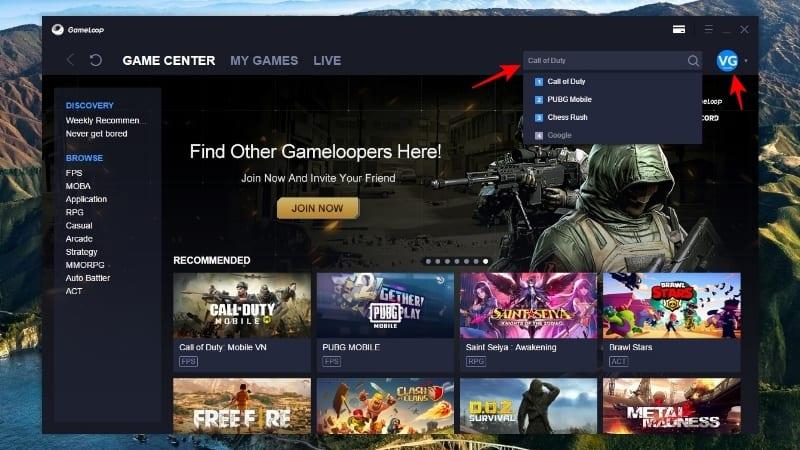 Cara Cari Game di Gameloop