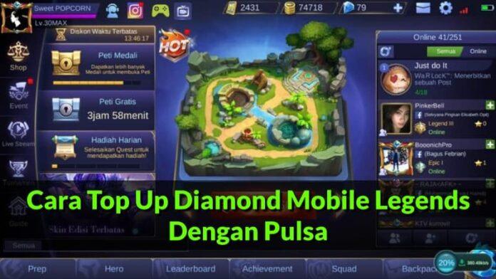 Cara Top Up Diamond Mobile Legends Dengan Pulsa