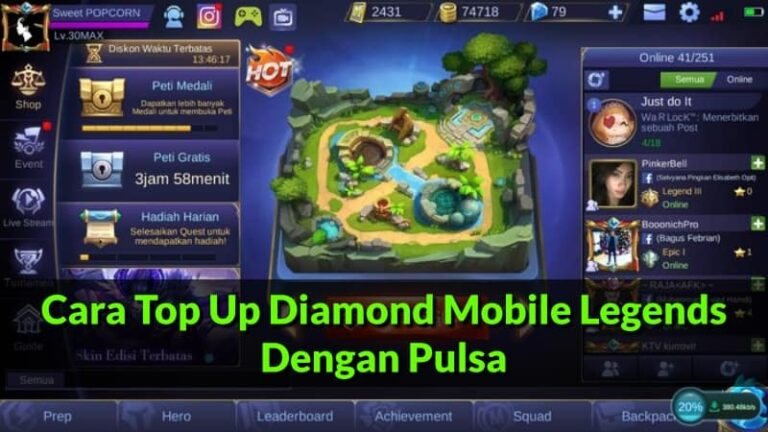 Cara Top Up Diamond Mobile Legends Dengan Pulsa (Update 2020)