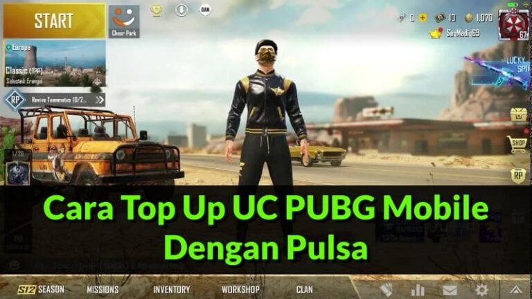 Cara Top Up UC PUBG Mobile Dengan Pulsa (Update 2020)