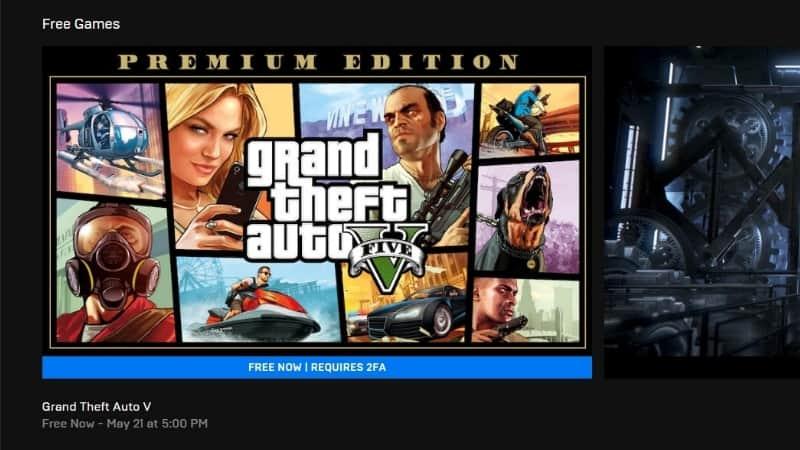 GTA 5 gratis di epic games store