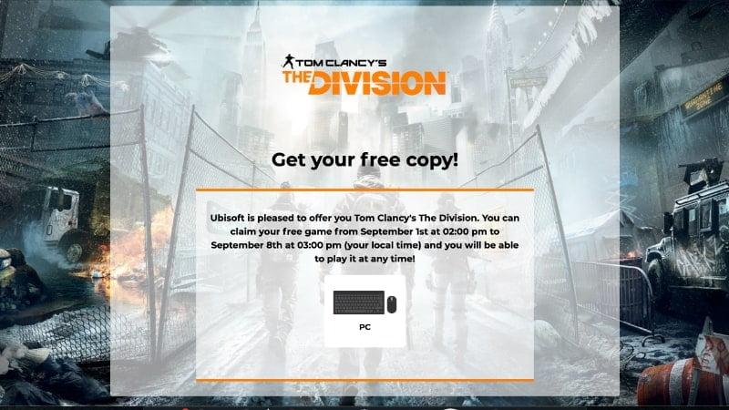 Klaim The Division Gratis Sekarang