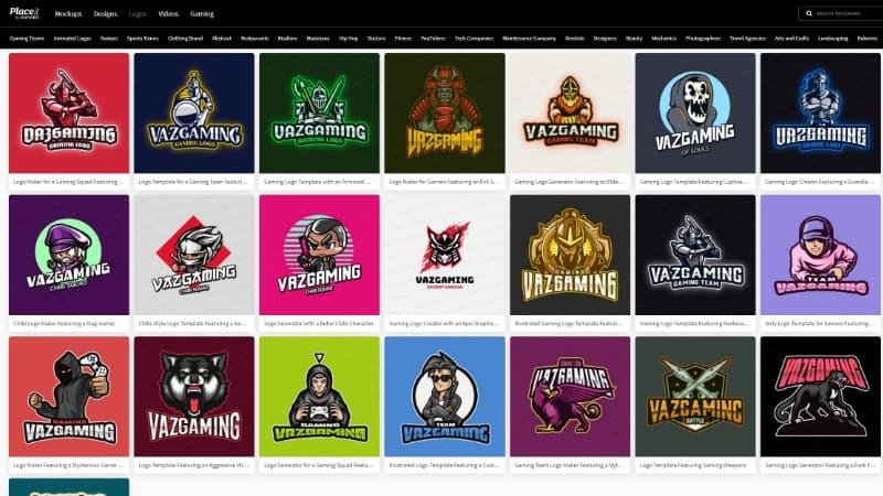 Placeit Website Pembuat Logo eSports