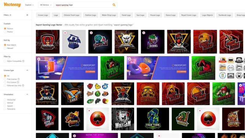 Vecteezy Situs Pembuat Logo eSports