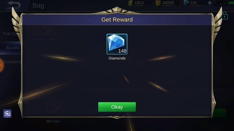 Cara Dapat Diamond Mobile Legends Gratis