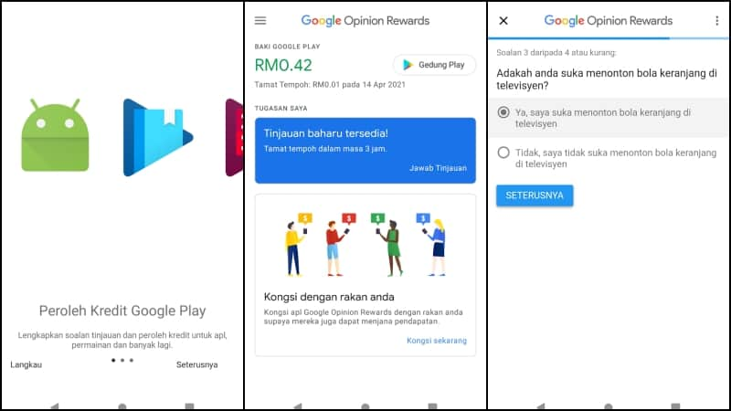 Google Opinion Rewards Screenshot 2020